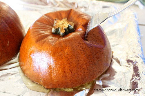 cook pumpkin until it is fork tender