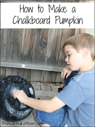 how to make a chalkboard pumpkin for kids
