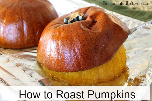 lift the skin off the cooked pumpkin