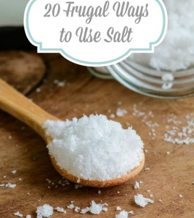 20 Frugal Ways to Use Salt- Salt has many frugal uses around the home. Learn how it can be used for cleaning, gardening, beauty, and natural remedies.