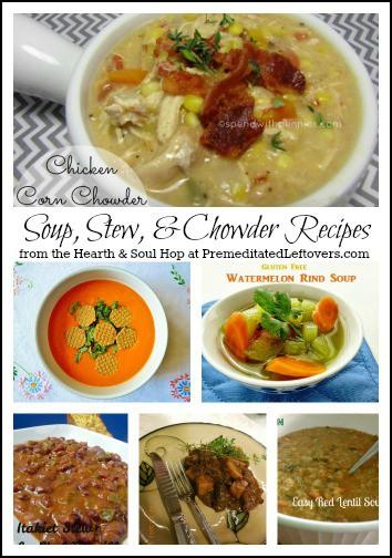 soup recipes, stew recipes, and a chowder recipe