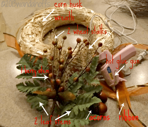 supplies needed to create a fall wreath