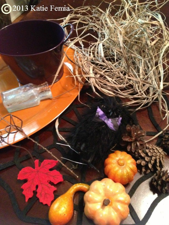 Dollar Store DIY items to make a  Frugal Fall Tablescape