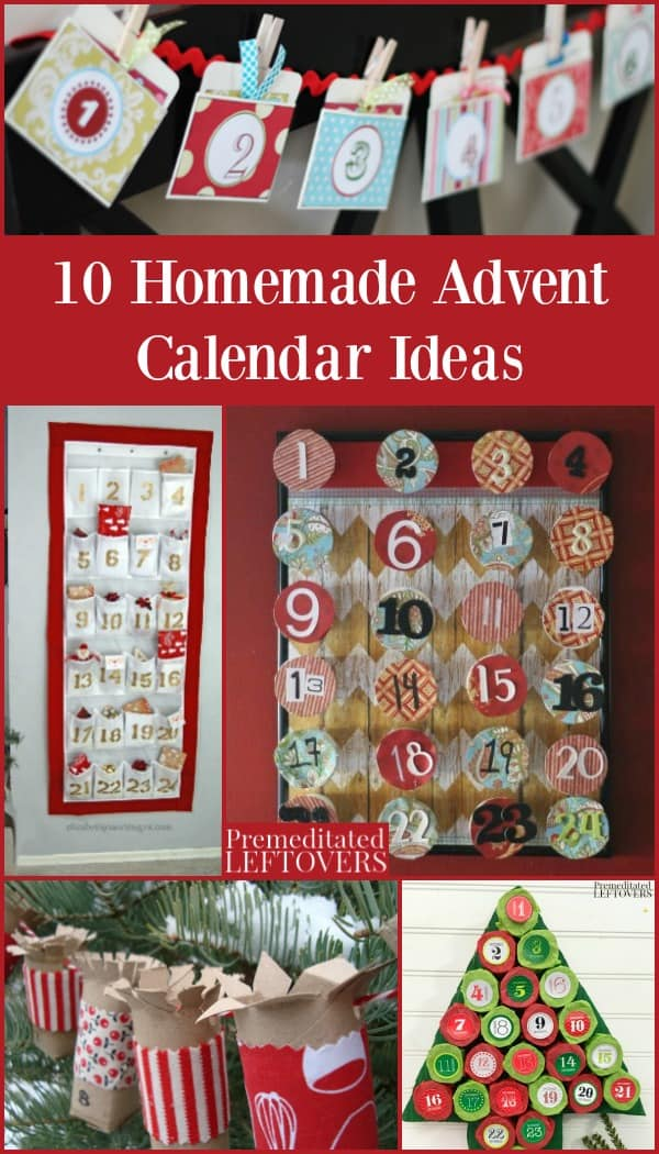 Self Made Christmas Calendar : Homemade advent calendar ideas