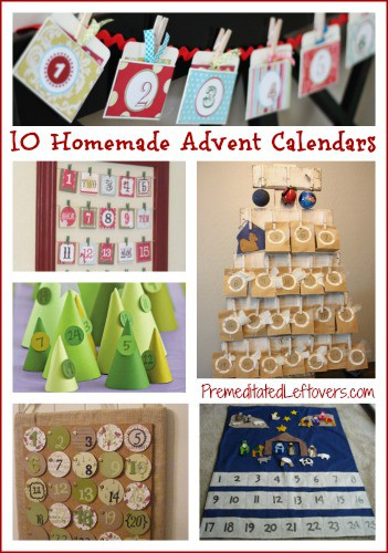 Calendar Ideas For Children To Make : Homemade advent calendar ideas