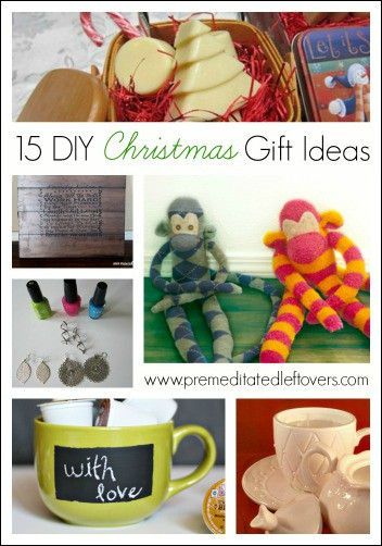 15 DIY Christmas Gift Ideas- Show your recipient how special they are with a hand-made gift. These homemade Christmas gift ideas will surely inspire you!