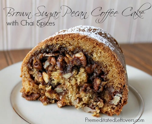 Brown Sugar Pecan Coffee Cake Recipe with Chai Spices
