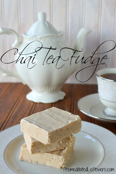Chai Tea Fudge Recipe - a delicious fudge recipe made using chai tea