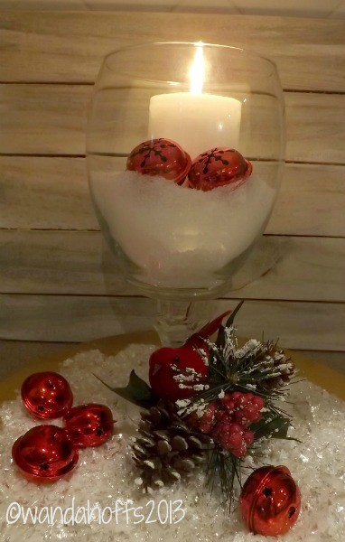 How to make a hurricane candle holder for How to make christmas candle holders