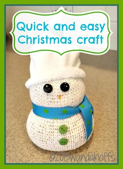 quick and easy snowman christmas craft