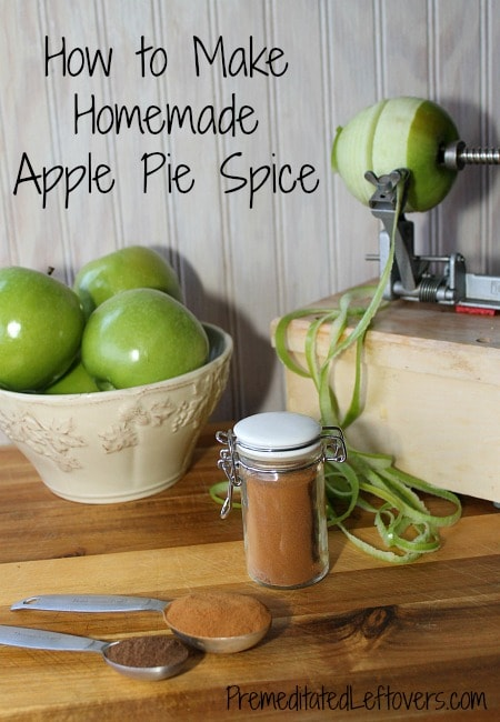 How to make apple pie spice mix - easy recipe using ingredients from your pantry.