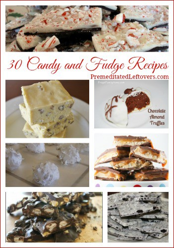 This collection of over homemade candy recipes includes easy candy bark recipes, and homemade fudge recipes. Candies make lovely gifts at the holidays.