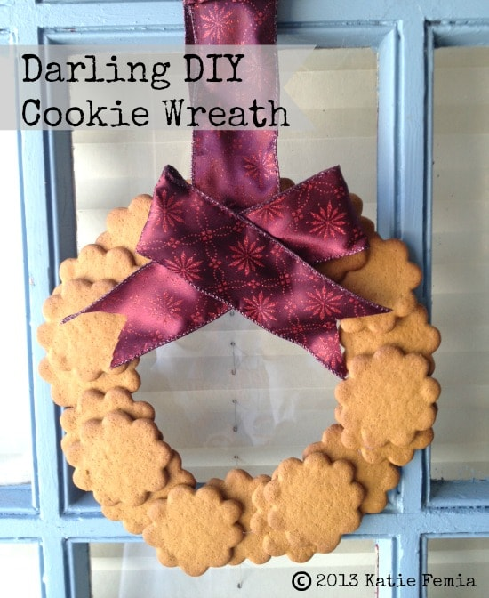 Easy Homemade Wreath Made with Cookies