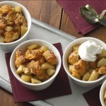 gluten-free cheddar apple crumble