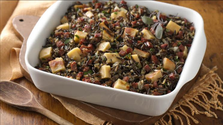 Wild Rice, Chorizo and Gluten Free Bread Stuffing Recipe