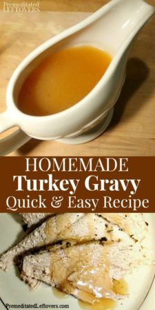 This quick and easy homemade turkey gravy recipe is naturally gluten-free.