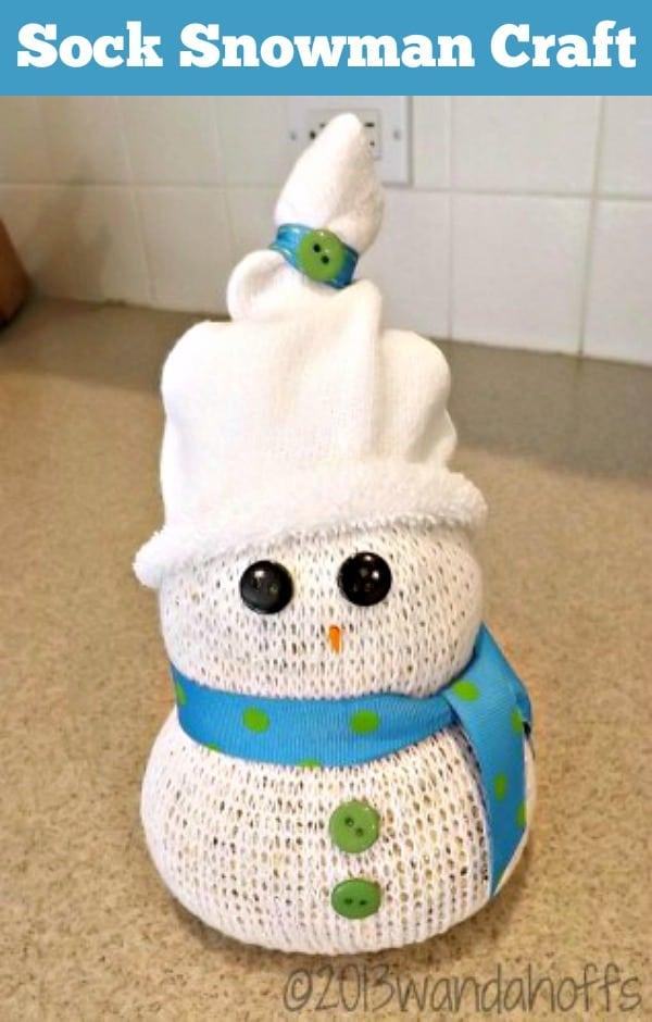 sock snowman craft tutorial