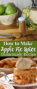 Use this homemade apple pie spice recipe to make your own apple pie spice for your next pie.