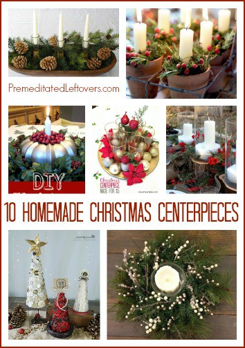 10 DIY Frugal Christmas Centerpieces- These easy, homemade Christmas centerpiece ideas are frugal and can be made with common household items.