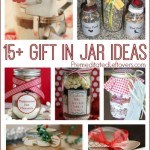 15+ Gift in Jar Ideas- DIY gifts in jars are perfect for neighbors and teachers. Easily create these clever gifts with this list of recipes and tutorials.