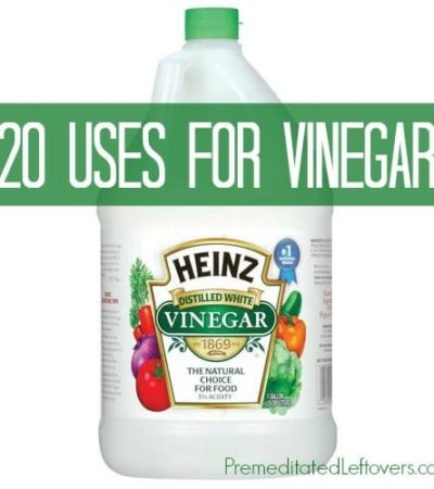 20 Frugal Uses for Vinegar - Ways to use vinegar around the home including vinegar cooking tips, vinegar cleaning tips, and uses for vinegar in the garden.