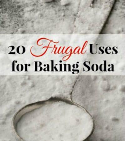 20 frugal uses for baking soda around the home.