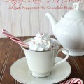 Candy Cane Hot Cocoa - A Peppermint Hot Chocolate Recipe