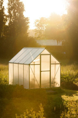 DIY Bamboo Greenhouse - how to build a frugal greenhouse out of bamboo and plastic sheeting