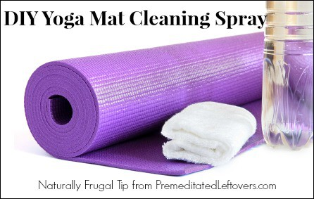Natural Yoga Mat Cleaning Spray Recipe With Essential Oils