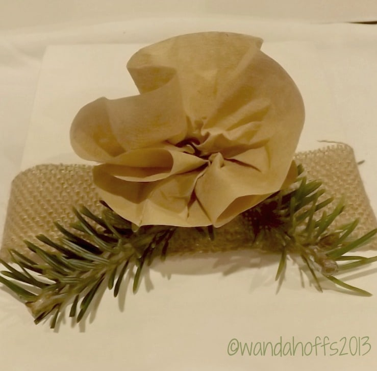 Making a flower from a coffee filter