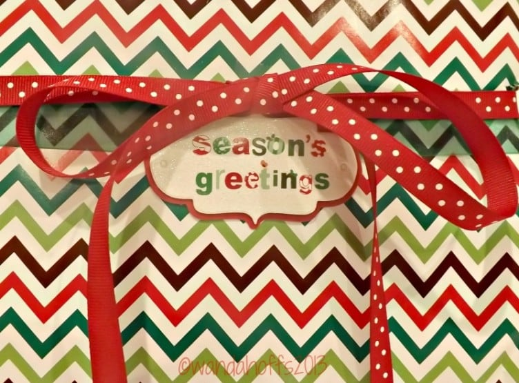 Wrap presents with ribbon