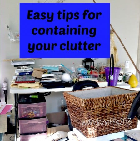 How to Have a Clutter Free Home - tips for organizing your clutter