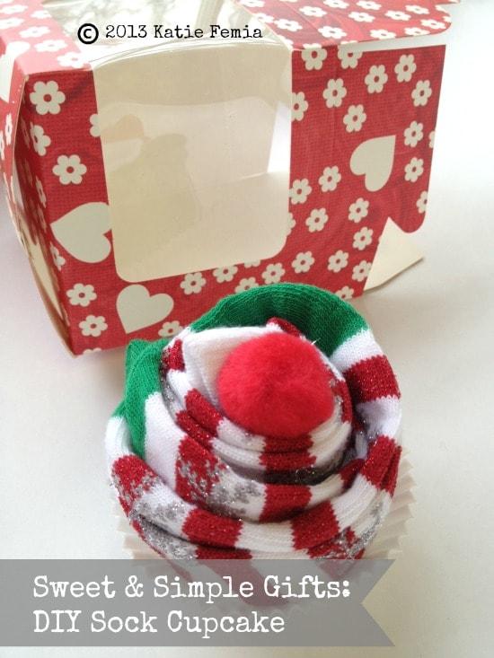 DIY Sock Cupcake Gift Idea