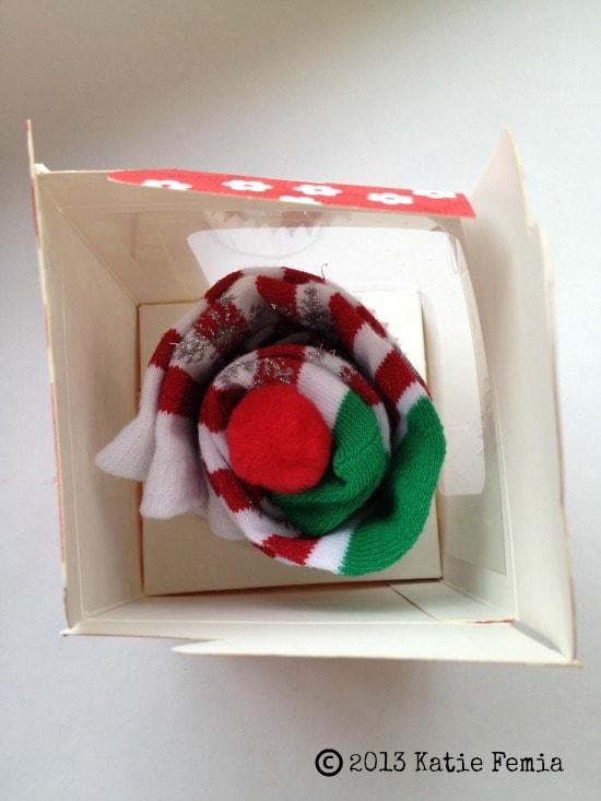 DIY Sock Cupcake Gift Idea - an inexpensive gift idea