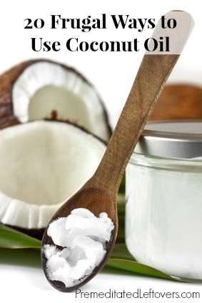 20 Frugal Ways to Use Coconut Oil including in your diet, to make homemade natural remedies, and to make natural beauty and body care products.