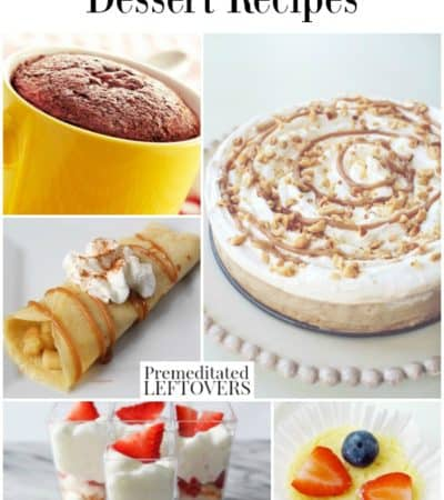 Weight Watchers dessert recipes that are 6 points or less