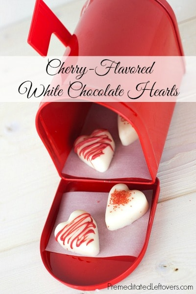 Cherry-Flavored White Chocolate Hearts Recipe
