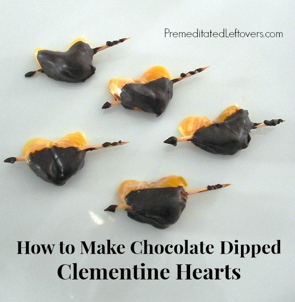 How to Make Chocolate Dipped Clementine Hearts