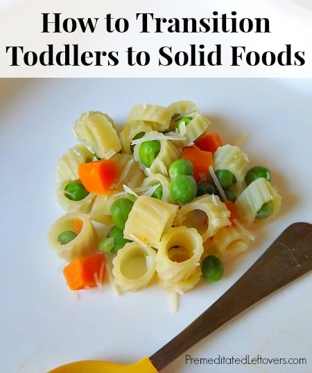 How to Transition Toddlers to Solid Foods