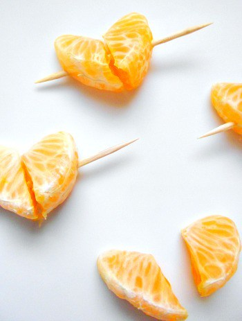 How to make mandarin hearts
