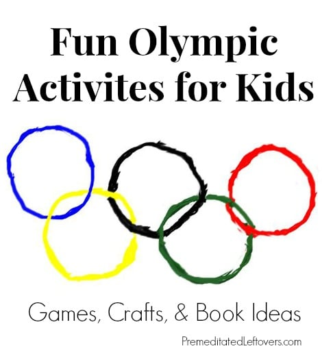 Winter Olympic Activities for kids including games, crafts, and trivia