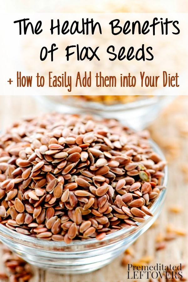 The Health Benefits of Flax Seeds and tips for using flax seeds in your diet. Why you should eat more flax seeds and where to get them.