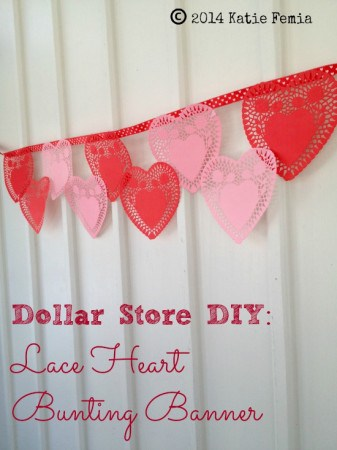 Lace heart banner by Premeditated leftovers