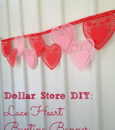 DIY Paper Lace Heart Bunting Valentine's Day Banner