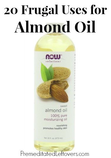20 Frugal Uses for Almond Oil - Ways to use almond oil including homemade beauty treatments, natural health tips, and frugal household hacks.