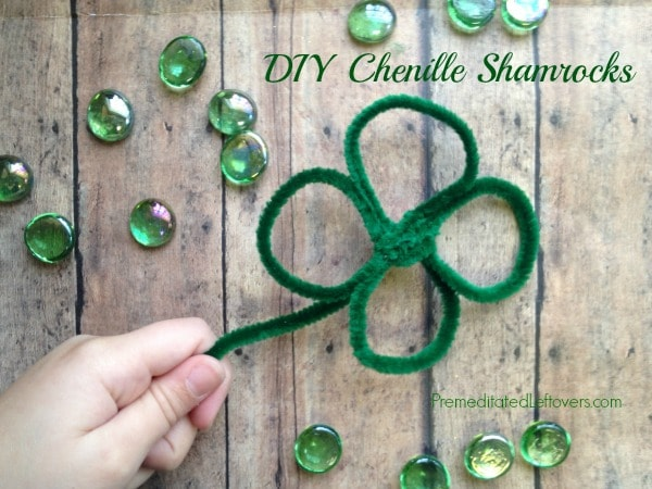 DIY Chenille Shamrocks - Fun St. Patrick's Day Craft Project for kids!