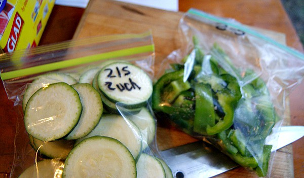 Prepping produce to save time