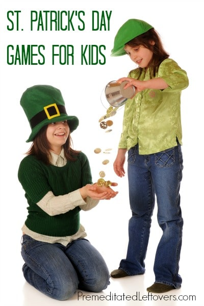 St. Patrick's Day Games for Kids - Here are 4 St. Patrick's Day activities for children that are perfect for family gatherings or school parties.