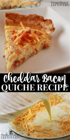 bacon cheddar cheese quiche recipe