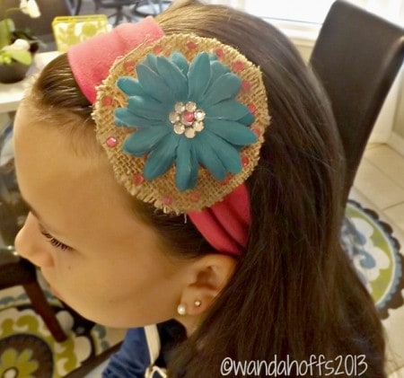 how to make a burlap hair bow